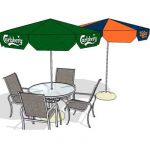 Aluminium outdoor dining set