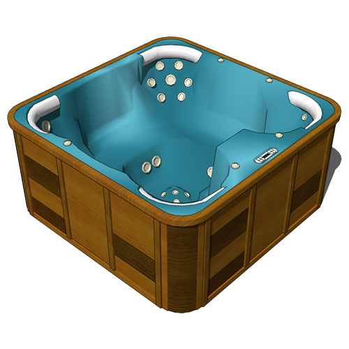 Jacuzzi bath. Model heavily based on Zambezi by o2....