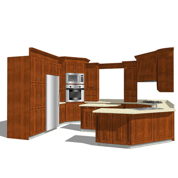 Kitchen set 05 3d model formfonts 3d models textures for Model kitchen