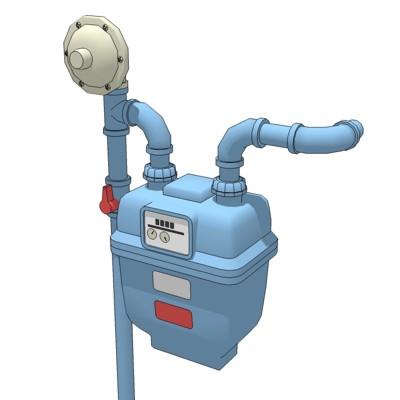 Lighting Gas Meter Room