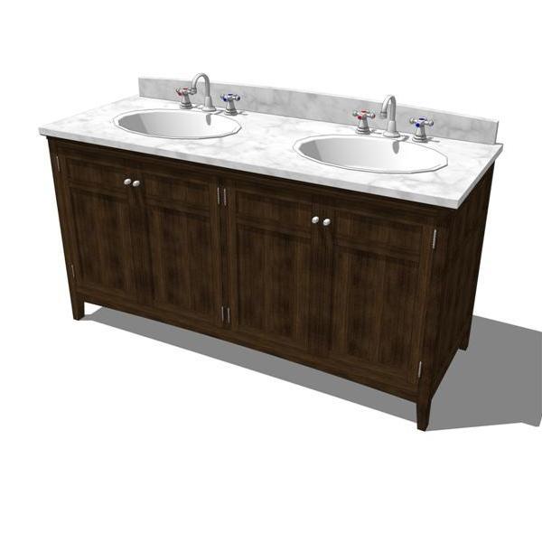 Cartwright bathroom 3d model formfonts 3d models textures for Sketchup bathroom sink