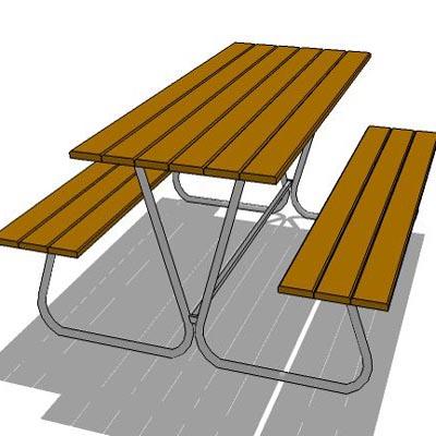 outdoor table set 3D Model - FormFonts 3D Models & Textures