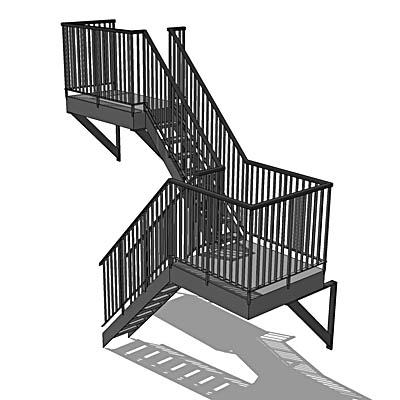 Fire Escape 3d Model Formfonts 3d Models Amp Textures