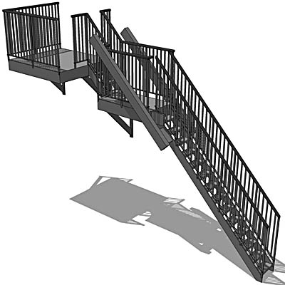 Fire Escape 3d Model Formfonts 3d Models Amp Textures
