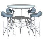 Chrome plated steel base