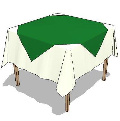 2 Table Cloth Setting ,2 Table Sizes 90 Cm Sq,60cm.