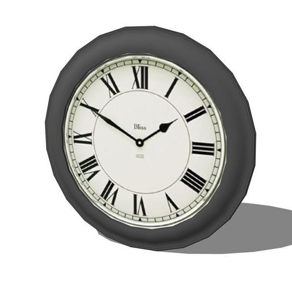 Wall Clock 3d Model Formfonts 3d Models Amp Textures