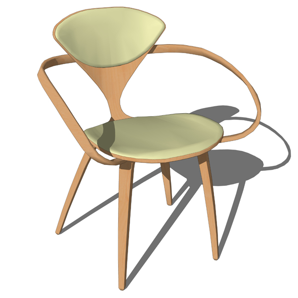 The iconic Cherner armchair (molded plywood, 1958)....