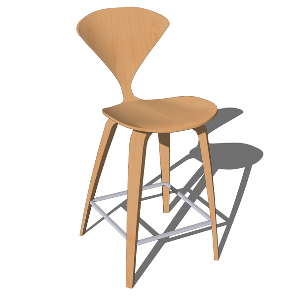 Incredible Cherner Counter Stool 3D Model Formfonts 3D Models Textures Gmtry Best Dining Table And Chair Ideas Images Gmtryco