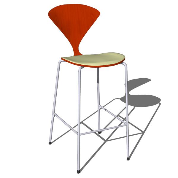 Cherner bar stool 3d model formfonts 3d models textures - Norman cherner barstool ...