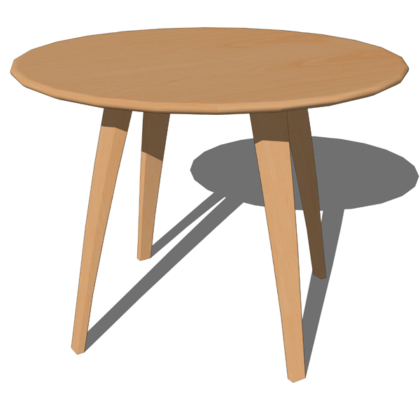 Cherner dining tables 3d model formfonts 3d models for Dining table models