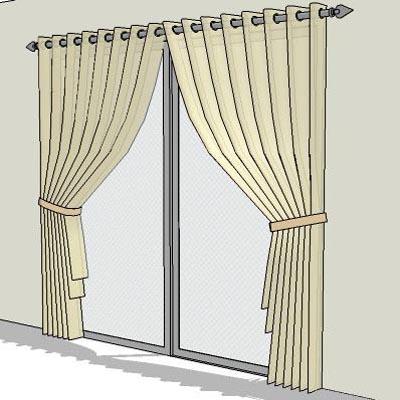 Curtains 3d Model Formfonts 3d Models Amp Textures