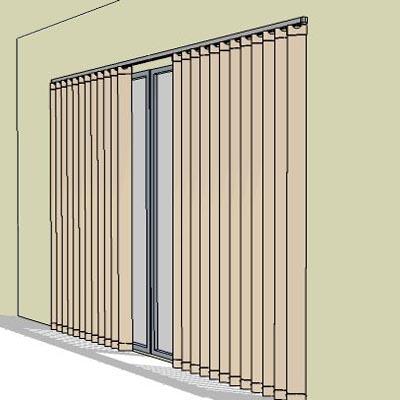 Bedroom Window Vertical Blinds