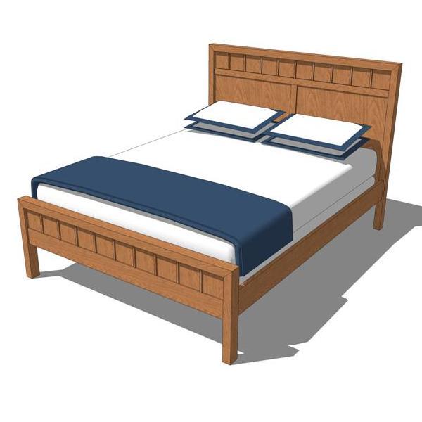 Bento bedroom set 1 3d model formfonts 3d models textures for Bed models images
