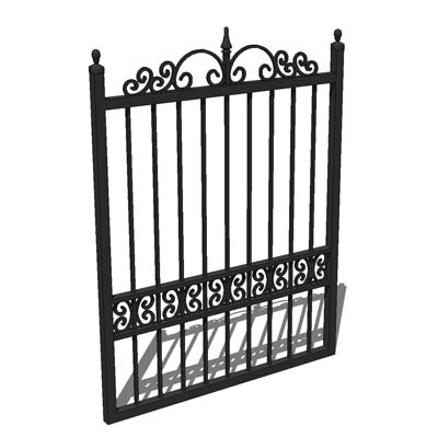 Wrought Iron Garden Gate; 3ft 9inches Wide For 4 F.