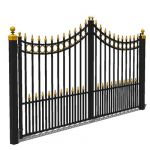 Single swing driveway gate. 12ft/4m (approx) openi...