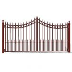 Bi-parting driveway gate. 12ft/4m (approx) opening...