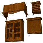 Sunflower cabinet set. Individual dimensions of ea...