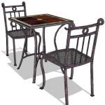 Generic wrought iron dining set