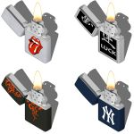 Zippo lighters in different presentations. Model c...