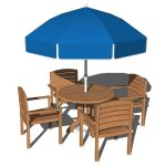 Pool dining set. Model includes 4 chairs, the tabl...