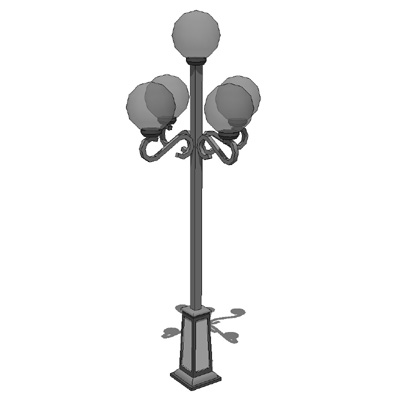 Classic Street Lights 3d Model Formfonts 3d Models
