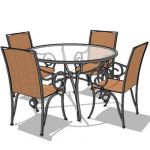 120cm diameter wrought iron dining table set