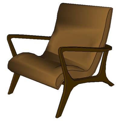 Bon Chair, Otoman And Table.