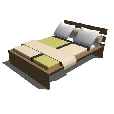 ikea hopen bed 3d model - formfonts 3d models & textures