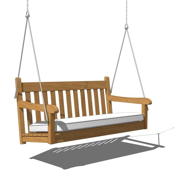 Porch swing 3D Model - FormFonts 3D Models u0026 Textures
