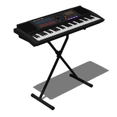 Yamaha keyboard 3d model formfonts 3d models textures for Yamaha piano keyboard models