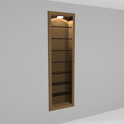 Wall Cabinet Glass Door 3d Model Formfonts 3d Models Textures