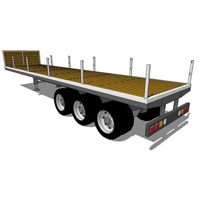 Trailer Set 2. Contains three types of Flat Bed Tr....