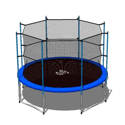 12ft/4m diameter trampoline, with and without safe....