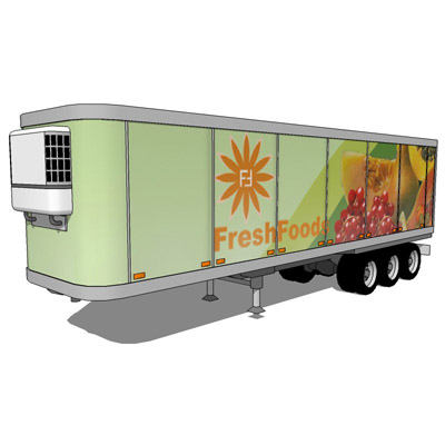 Three refrigerated trailers..