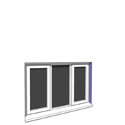 1342x900mm narrow module casement window.