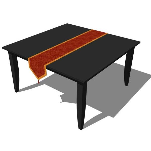 Dining table sketchup components dining table for Table design sketchup