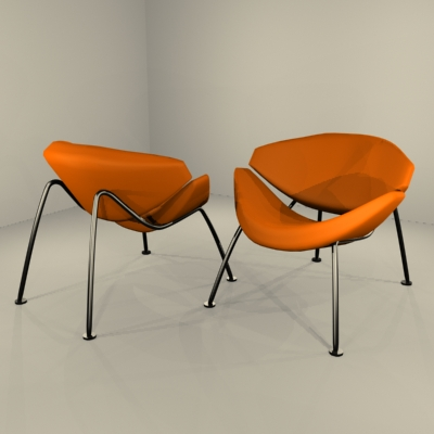 Perfect Orange Slice Chair By Pierre Paulin 3D Model