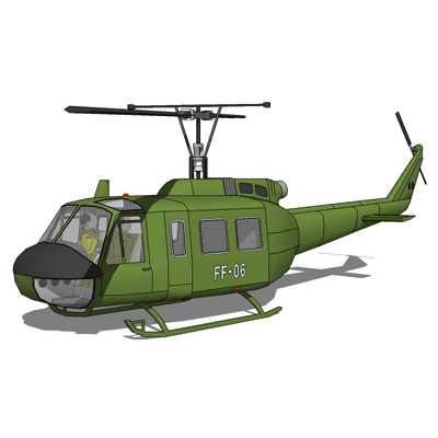 Bell UH-1H Iroquois in two versions, flat color an....