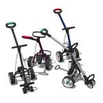 Motorised golf trolley in a selection of colours. ...
