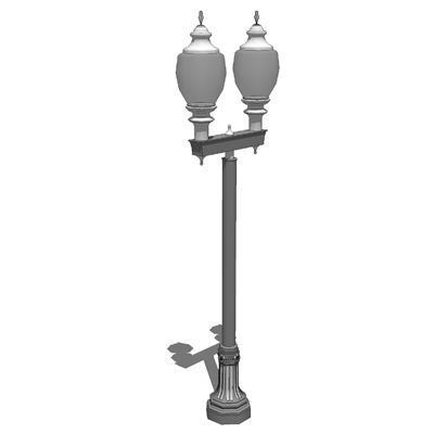 Model based on the Cleveland Series Light Poles by.  sc 1 st  FormFonts & Niland Company Cleveland Series Light Pole Double Light 3D Model ... azcodes.com