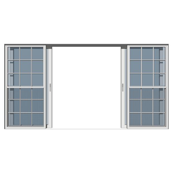 Double italian sliding door 3d model formfonts 3d models for Door 3d model