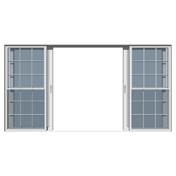 Exterior sliding glass doors - Double Italian Sliding Door 3d Model Formfonts 3d Models Amp Textures