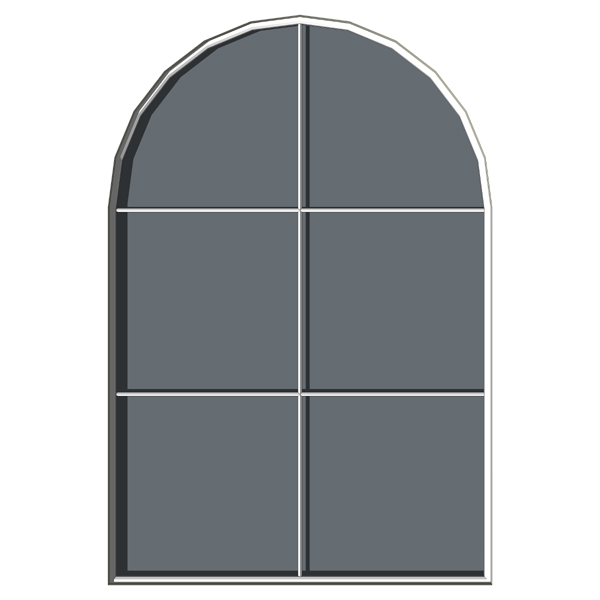 Arched windows 3d model formfonts 3d models textures for Window 3d model