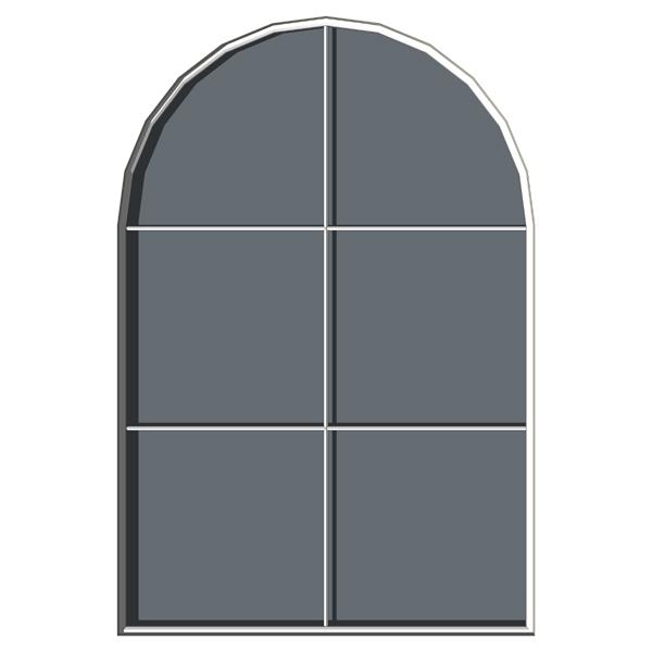 Arched windows 3d model formfonts 3d models textures for Window 3d model