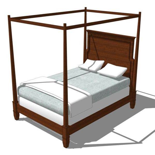 Country Corner Bedroom Set 3D Model FormFonts 3D Models