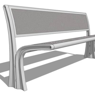 35-Stay cantilever bench by Landscape Forms. Appea....