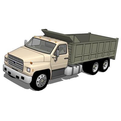 Ford F600 Set 2 3D Model - FormFonts 3D Models & Textures
