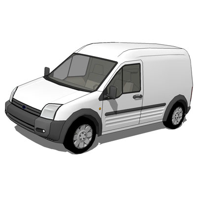 Ford Transit Connect 3D Model  FormFonts 3D Models  Textures