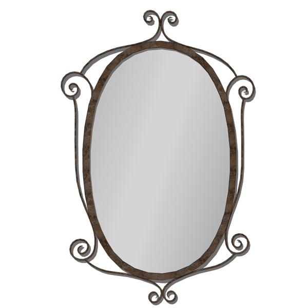 Wrought iron mirror. For wall decoration..
